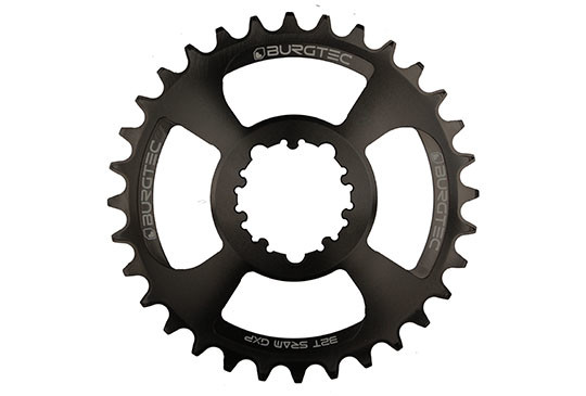 Burgtec Black 32T GXP Boost 3mm Offset Thick Thin Chainring