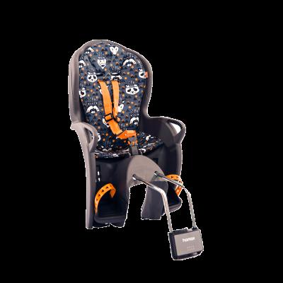 Hamax Kiss Rear Mounted Child Seat Grey / Orange Animal Print